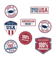 USA stamps and badges vector