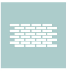 Wall the white color icon vector
