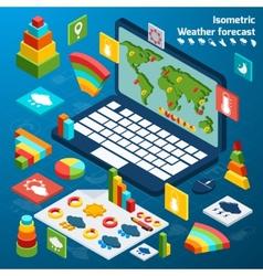 Weather isometric icons vector image