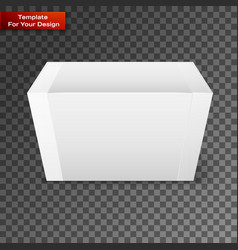 white product package box isolated on vector image