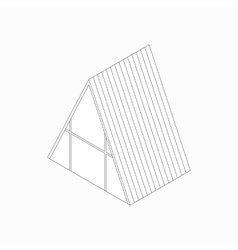Wickiup house icon isometric 3d style vector image