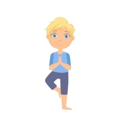 Boy In Tree Pose vector image vector image