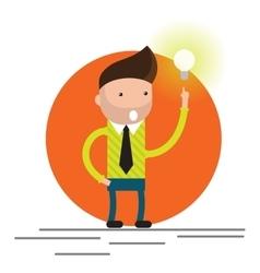 Businessman get idea vector image vector image