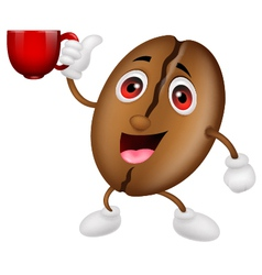 Coffee cartoon character with a coffee cup vector image