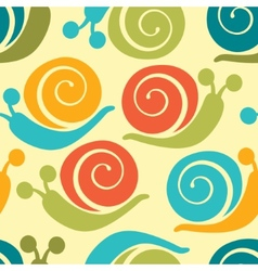 Colorful snails pattern vector image vector image