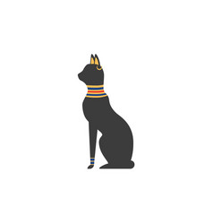 flat black egypt cat vector image