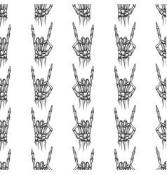 heavy metal bones seamless pattern vector image