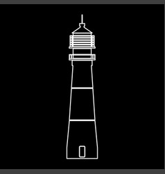 lighthouse white color path icon vector image vector image