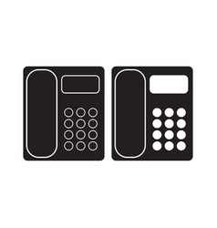 office phone icon telephone flat sign isolated on vector image vector image