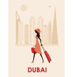 Woman in Dubai vector image