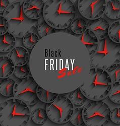 Black friday sale banner holiday season offer vector image
