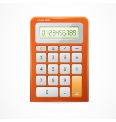 Calculator Red vector image