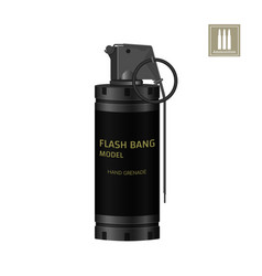 hand flash grenade of special forces vector image vector image
