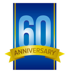 label for 60th anniversary vector image vector image