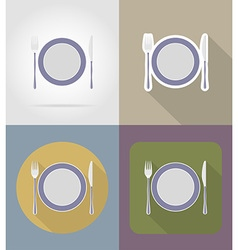 objects for food flat icons 14 vector image vector image