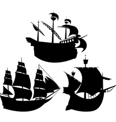 sail silhouettes vector image