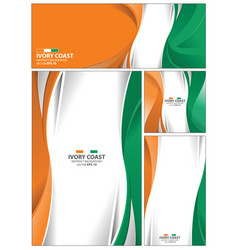 abstract ivory coast flag background vector image vector image