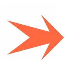Arrow icon direction button pointer sign vector