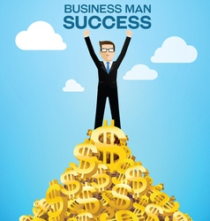 business man success vector image vector image