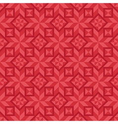 Geometrical seamless pattern in red color scheme vector image vector image