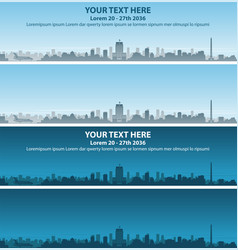 houston skyline event banner vector image