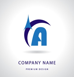 Letter A logo icon design template element vector image vector image