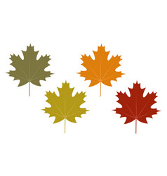 set of clip art autumn leaves vector image vector image