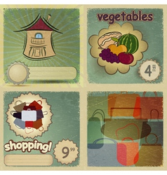 Set of vintage cards for trade vector image vector image