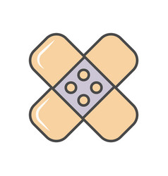 Adhesive plaster linear icon vector