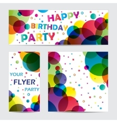 Flyers with circles vector image