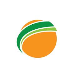 globe sphere earth orange logo image vector image vector image