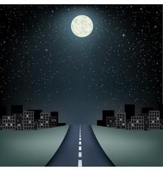 horizon road city trip vector image vector image