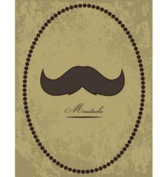 Moustache background vector image vector image