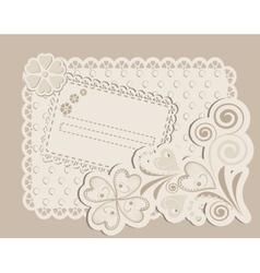 Romantic scrapbooking for invitation vector image
