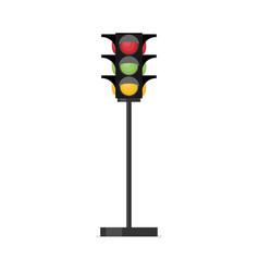 traffic light single flat icon on white vector image