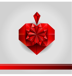 Valentine paper love heart vector image vector image