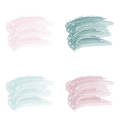 4 pastel stroke watercolor paint brush vector image
