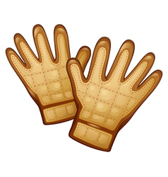 A pair of leather gloves vector