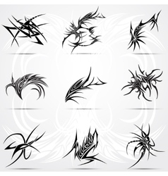 Abstract tattoo tribal set vector image vector image