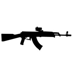 ak-47 assault rifle silhouette vector image