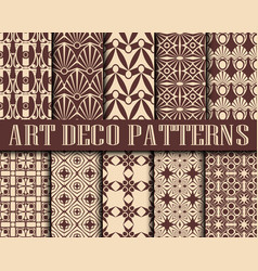 art deco patterns vector image
