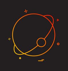 atom globe icon design vector image