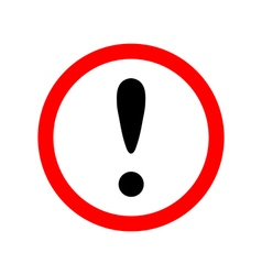 Attention sign icon vector image