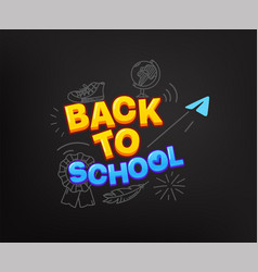 Back to school concept with doodle elements vector