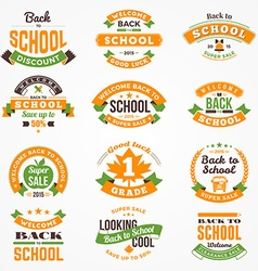 Back to School Design Collection Retro Vintage vector