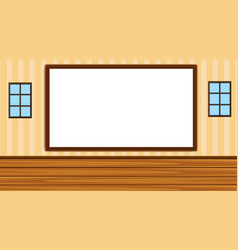 Background with whiteboard in classroom vector