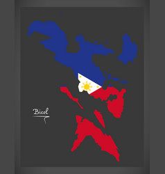 bicol map of the philippines with philippine vector image