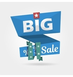 Big Sale banner realistic curved Template vector