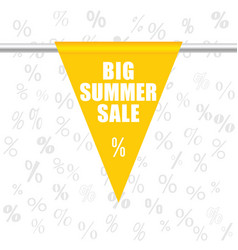 big summer sale icon in yellow vector image