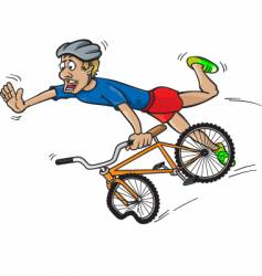 bike crash vector image
